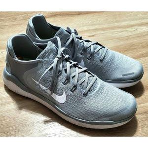 Nike Mens Free Run 2018 Gray Sneakers Size 14